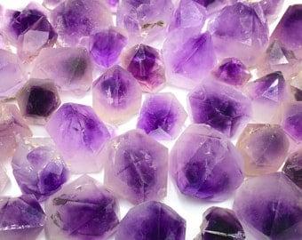 5 Phantom Amethyst Points Natural Crystal Specimen in Velvet Bag Randomly Selected FREE USA SHIPPING!