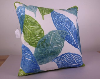 Outdoor Cushion Cover - BRIGHTS blue and green (44cm x 44cm)