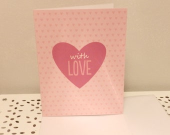 With Love Pink Greeting Card
