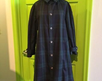 Polo Ralph Lauren 90's women's sz 10 Plaid over coat jacket trench duster