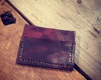 Handmade slim card wallet