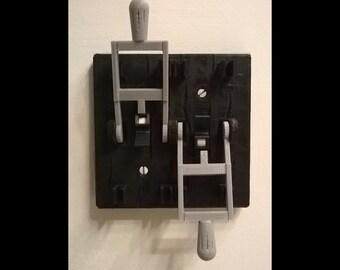 Dual - Frankenstein Knife Light Switch Plate Cover Flip Handle - Black