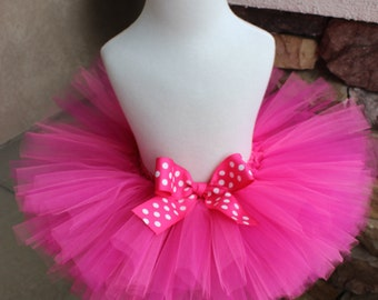 Pink Tutu, Pink Polka Dot Tutu, Baby Tutu, Toddler Tutu, First Birthday Tutu, Smash Cake Tutu, 1st Birthday Tutu, Birthday Tutu, Girl Tutu