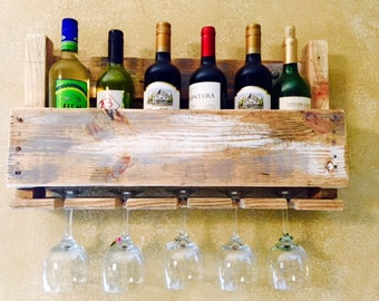 Wine Rack and Wine Glass Holder