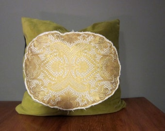 Handmade Vintage Fabric Pillow Cover 20 x 20