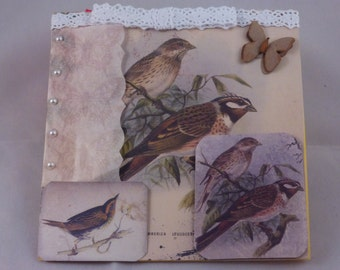 Handmade Vintage Bird Greeting Card
