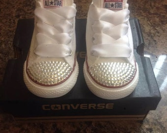 New Customised Crystal Converse  UK Infant Sizes 2 3 4 5 6 7 8 9 10