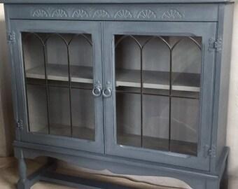 Vintage Oak Glazed Cabinet