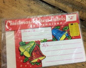 Vintage Dennison Address Labels