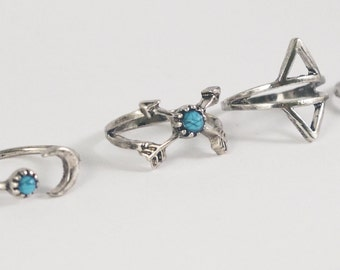 Gypsy styled rings - Collection - Sterling Silver