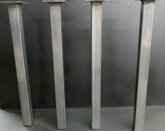 """SHIPS NEXT DAY! Steel Tube 2""""x2"""" Table Legs (set of 4)"""