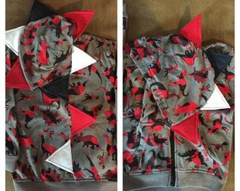 Dino Print Dino hoodie