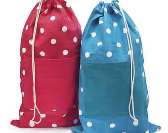 Polka Dot Laundry Bag