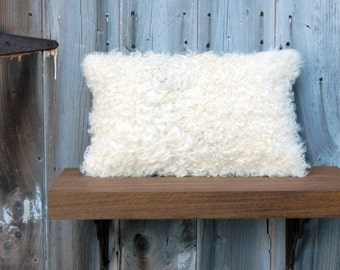 Curly Sheepskin Pillow