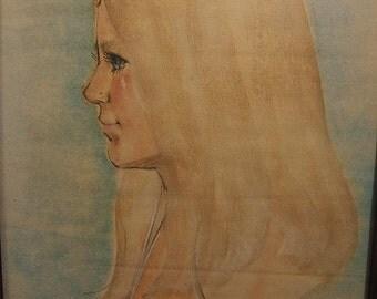 BH, 1974, portrait, hairstyle, girl
