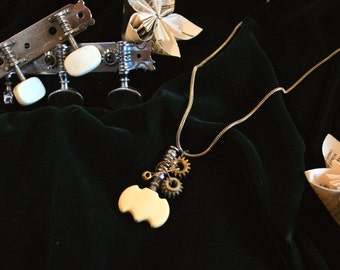 Classical guitar tuning peg necklace