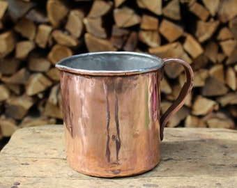 Copper handcrafted drinks water carafe