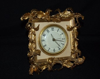 Fantastic Brass Ormolu Electric Alarm Clock