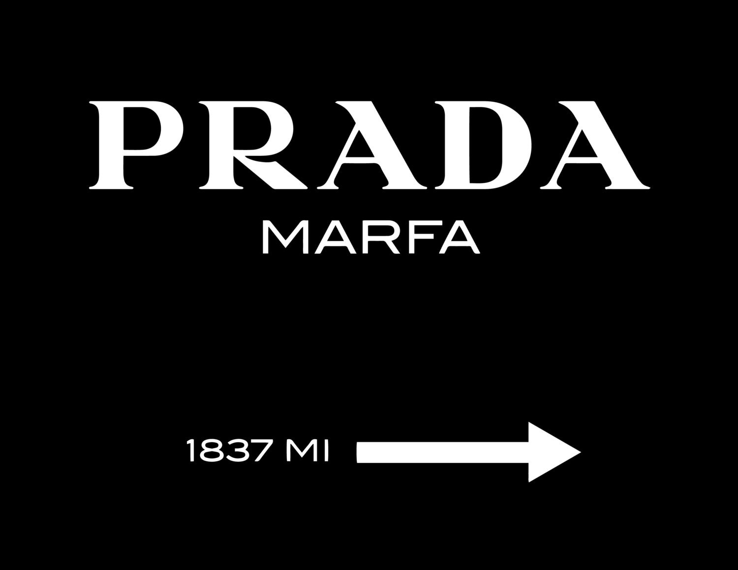 prada marfa print painting by creativeprintsbynv on etsy. Black Bedroom Furniture Sets. Home Design Ideas