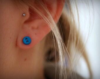 Mini Button Earrings