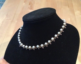 Victorian style beaded necklace