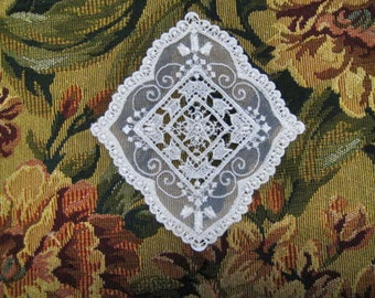 Lace Applique White Doily Diamond design Patchwork, Quilting, Home Decor, Clothes