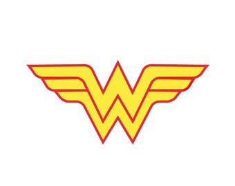Wonder Woman Inspired Halloween Costume Logo Iron On Transfer