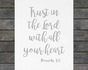 Trust in the Lord 8x10 Canvas