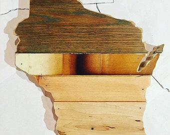 "11"" Wisconsin Reclaimed Wood Cutout - Wall Art"