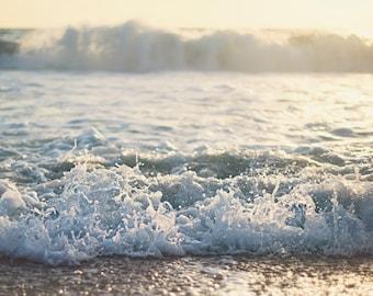 Ocean Waves - Nautical Photograph - Photography Print - Nautical Theme - Large Photo Print - Ocean Photography - Beach Photograph - Wall Art