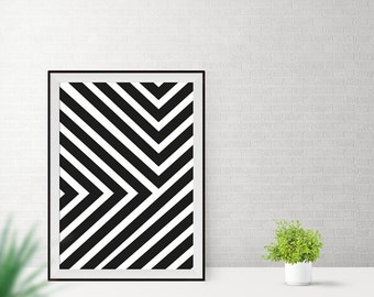 Art print / / triangles / / strips