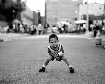 Block party boy, Brooklyn, NYC.