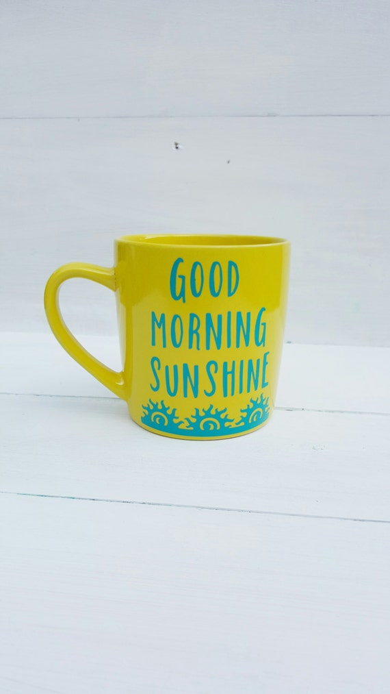 Good Morning Sunshine Letter : Good morning sunshine coffee mug