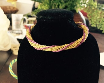 Gold and purple bracelet