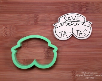 Save the Tatas Cookie Cutter. Breast Cancer Cookies. Hope Cookie Cutter. Ribbon Cookie Cutter. Plaque Cookie Cutter.