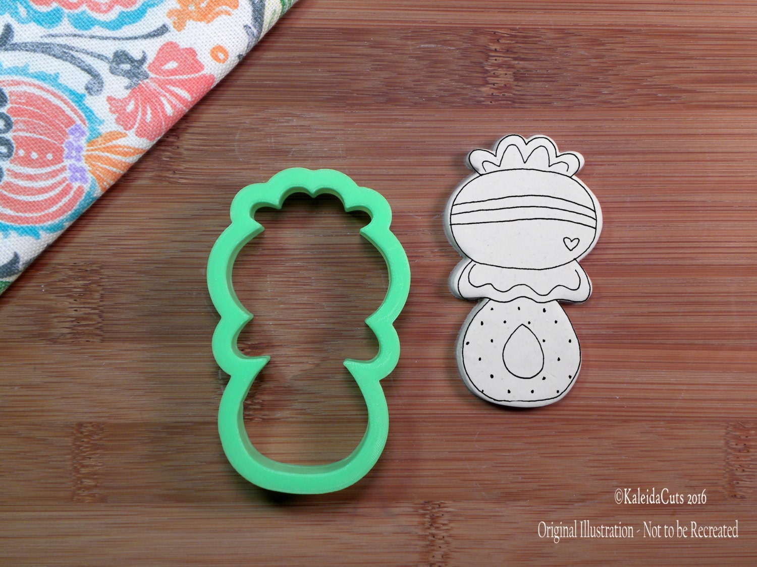 rattle 1 cookie cutter baby shower cookie cutter 3d printed