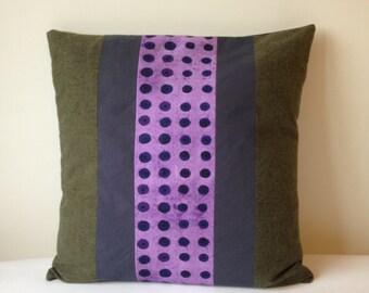 Pillow Purple Poppies Pillowcase Patchwork