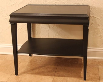 Black End/Side Table with Lower Shelf *** (Chicago area pick-up and delivery only)