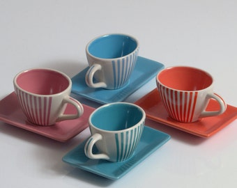 Lot of 4 cups and saucers LBVYR
