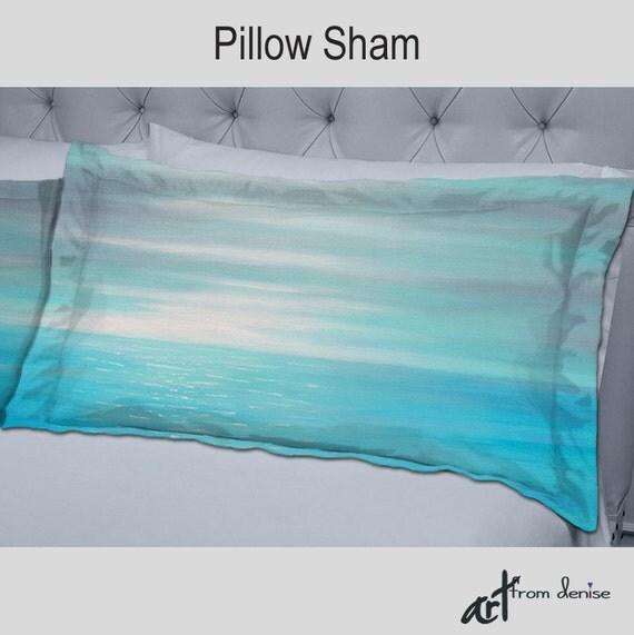 Decorative Bed Pillows Shams : Designer bedding Decorative pillow shams Bedroom decor Teal