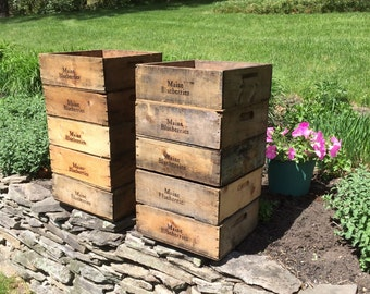 Wooden Fruit Crate Blueberry Crate Wood Box Wood Crate Orchard Vintage Crate Wooden Crate