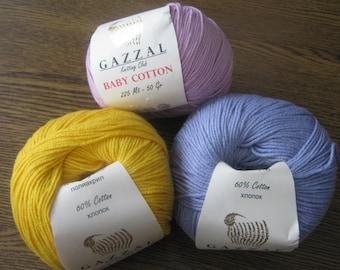 Baby Cotton GAZZAL, baby yarn, crochet yarn, knitting yarn, knit yarn, cotton blend, summer yarn, yarn for sale, cotton yarn online,