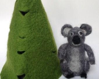 koala, felt koala, felted koala, gift, needle felt koala