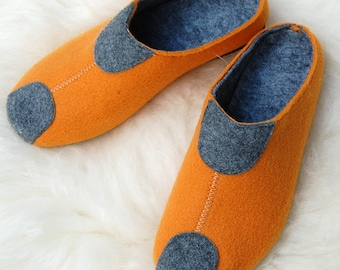 Felt slippers, slippers, felt slippers orange. 38-41F