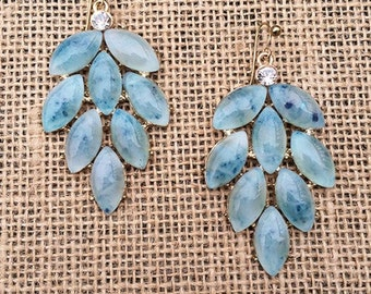 Blue Marble Dangle earrings