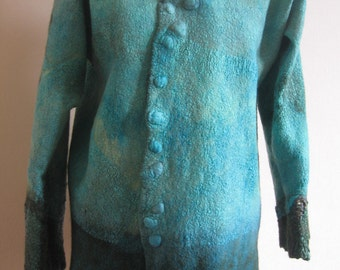 This item is reserved:  Nuno felted, semi fitted women's jacket
