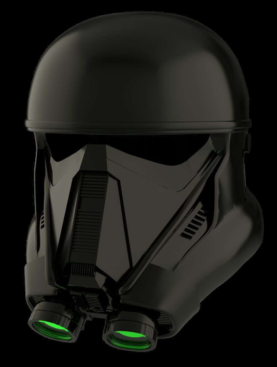 death trooper helmet from star wars rogue one for 3d printing. Black Bedroom Furniture Sets. Home Design Ideas