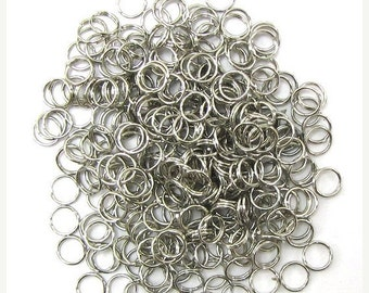 40% CLEARANCE 300 6mm metal double open jump rings finding 31907