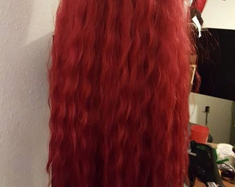 "Custom Wig 22""22""24""26 Pick A Color (SHOWN RED)"
