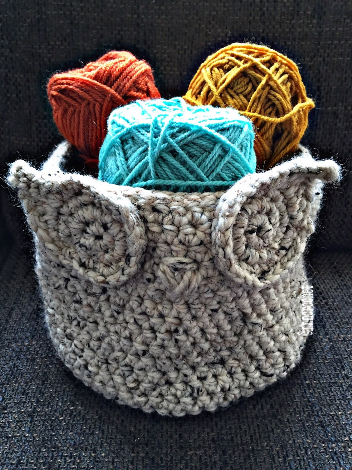 Free Crochet Patterns Owl Basket : handcrafted crochet owl basket
